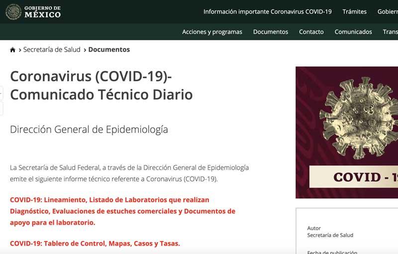 COVID19 Comunicado técnico diario